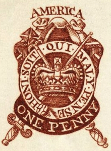 1765_one_penny_stamp