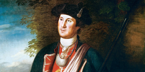 Young George Washington as colonel of the First Virginia Regiment (1772)