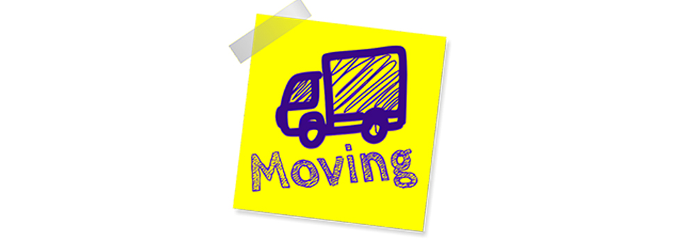 image of a moving truck with the caption moving