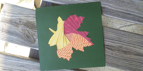 Iris paper folding leaf example